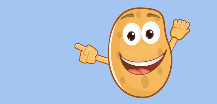 karstais kartupelis - rotaļa maziem bērniem